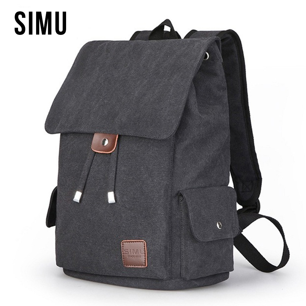 Canvas Backpack Student School Backpack Bags For Men Vintage Multifunction Men's Casual Rucksack Travel Daypack Male Bag HQB1875 vintage multifunction business travel canvas backpack men leisure laptop bag school student rucksack