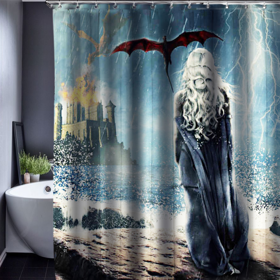 Game of Thrones Shower Curtain Polyester Waterproof Fabric 150x180cm Shower Curtains For The Bathroom