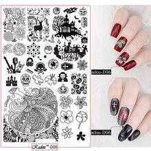 Christmas &Halloween Nail Art Stamping 2018 Steel Plate Halloween Celebrate Gel Polish For