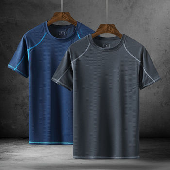 Outdoor Casual T Shirt Men Absorb Sweat Quick Drying Baseball Bike Tees Short sleeve O neck Summer Tops Clothes
