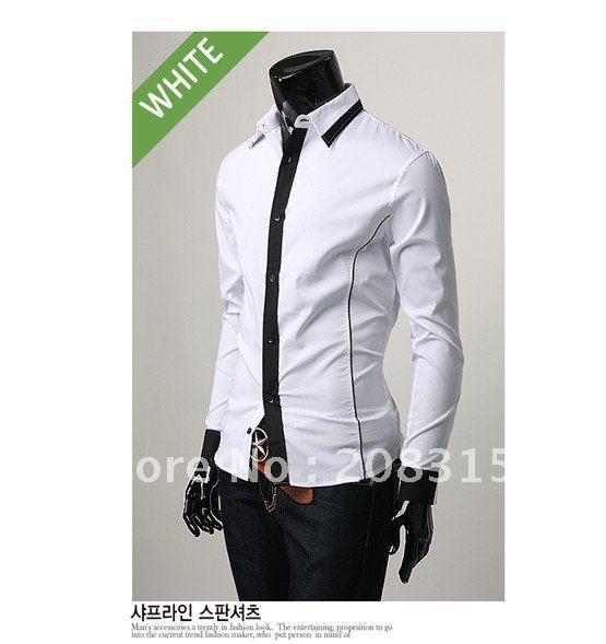 Free Shipping 2011 New Men's Long Sleeve Shirt Cotton Shirt Silk ...