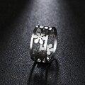 Женские кольца из нержавеющей стали DOTIFI, кольцо для помолвки и свадьбы с шестью лепестками, 316L