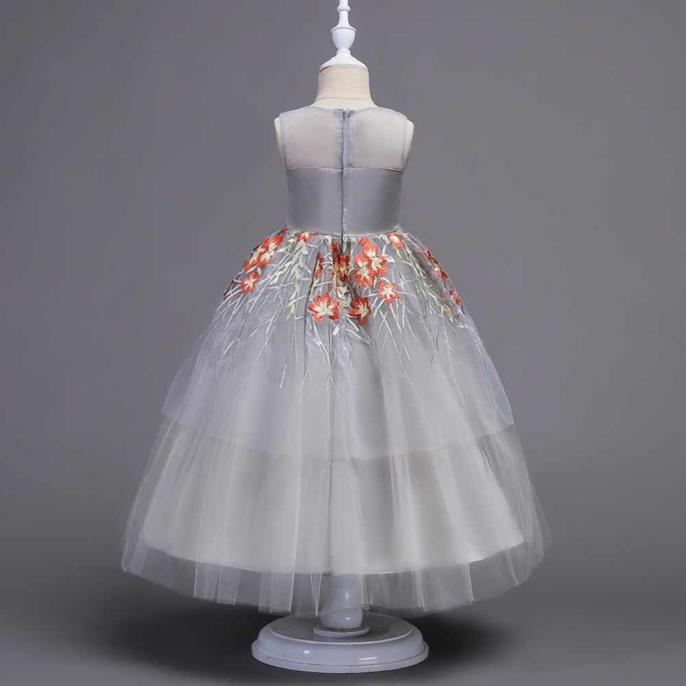 62c91bbd1662377 ... Платье для девочек с цветочным узором Детские нарядные платья для свадьбы  Детские платья Дети Кружево Бальные