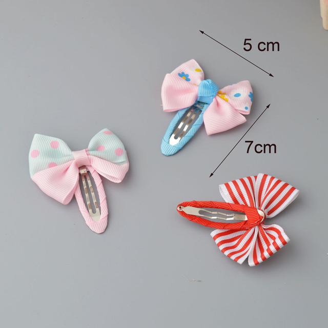 YYXUAN 2 pieces Girl Boutique Hair Bows Barrettes Clips For Kids Toddlers Girls Printing Bow Hairgrips 2