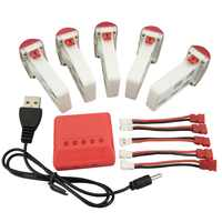 New aircraft 5PCS lithium battery and 5 in 1 charger for SYMA X5UW X5UC remote control helicopter battery accessories