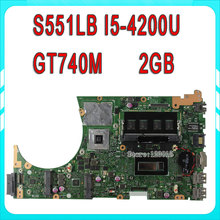 Original for ASUS S551LB motherboard S551LN REV2.2 with i5-4200U cpu GT740M N14P-GV2-S-A1 2GB mainboard 100% Tested