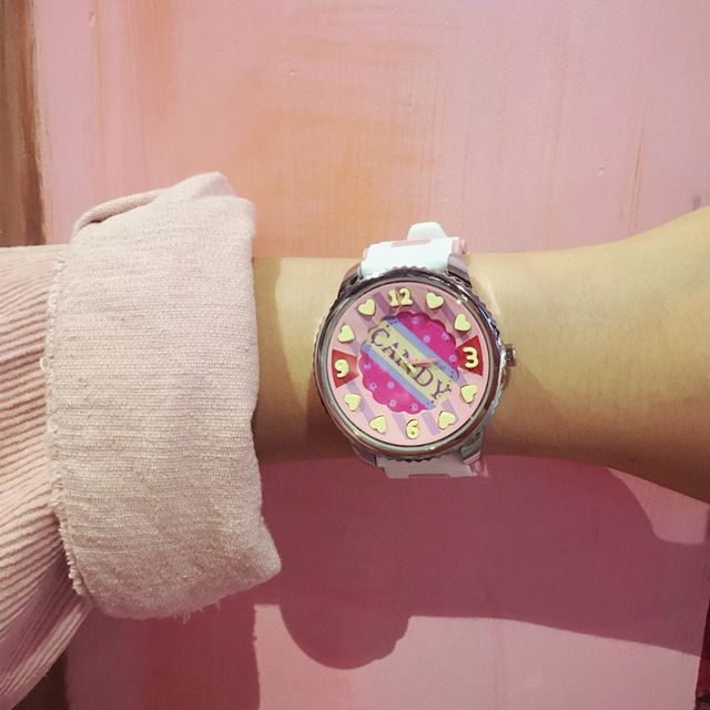 Multicolor Original Candy Fashion Student Silicone Strap Watch High Quality Cute Harajuku Cartoon Kids Wristwatch Baby Girl Boy