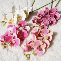 10pcs 3D Artificial Butterfly Orchid Flowers Fake Moth flor Orchid Flower for Home Wedding DIY Decor party supplies Silk Flore