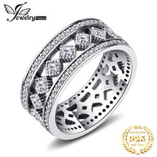 Jewelrypalace 925 Sterling Silver Vintage enchantment Hollow-out Cocktail Ring Round Fashion Jewelry Steel Rings For Woman/Girls the enchantment