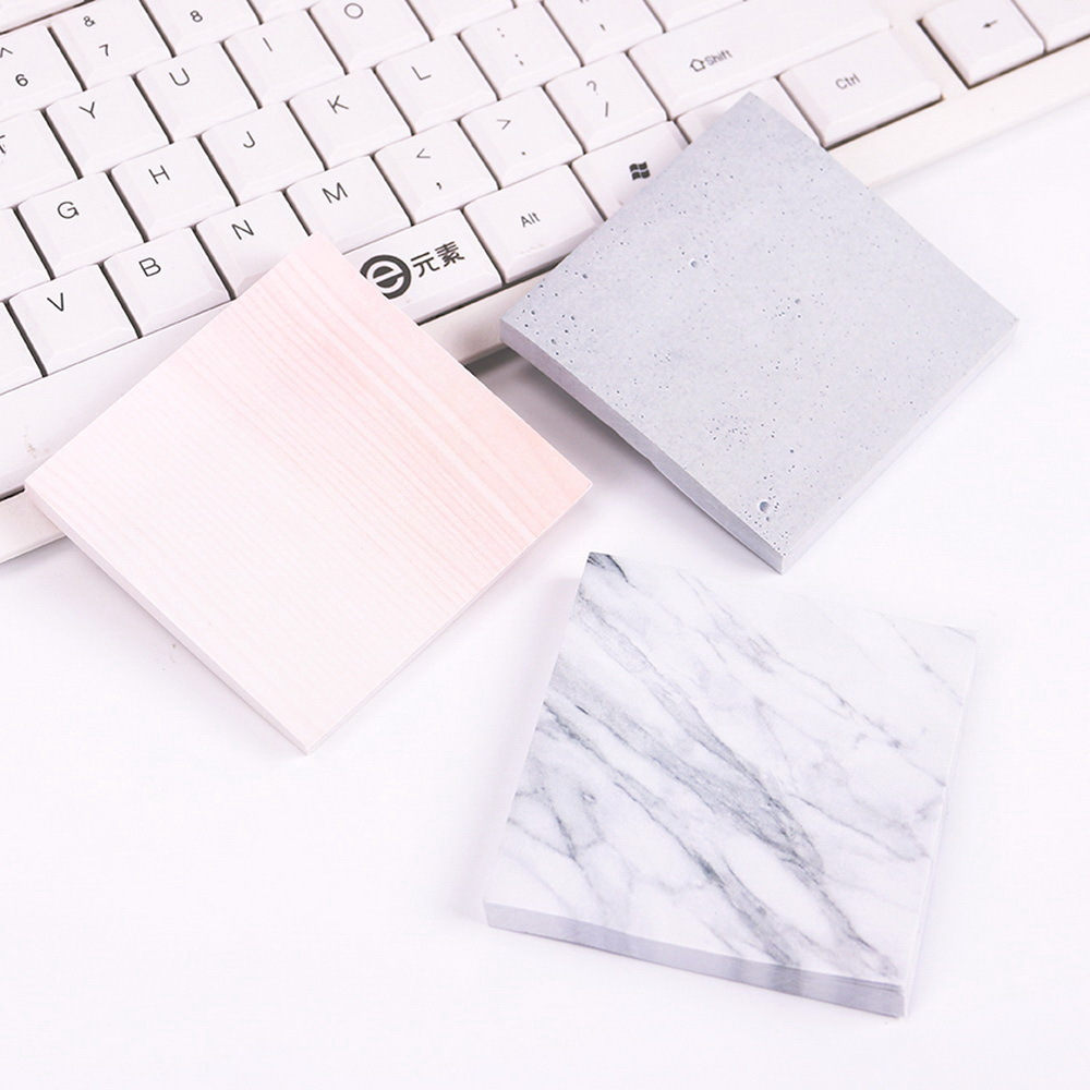 2018 1PC Creative Marble Color Self Adhesive Memo Pad Stone Style Sticky Notes Post It Bookmark School Office Stationery Supply