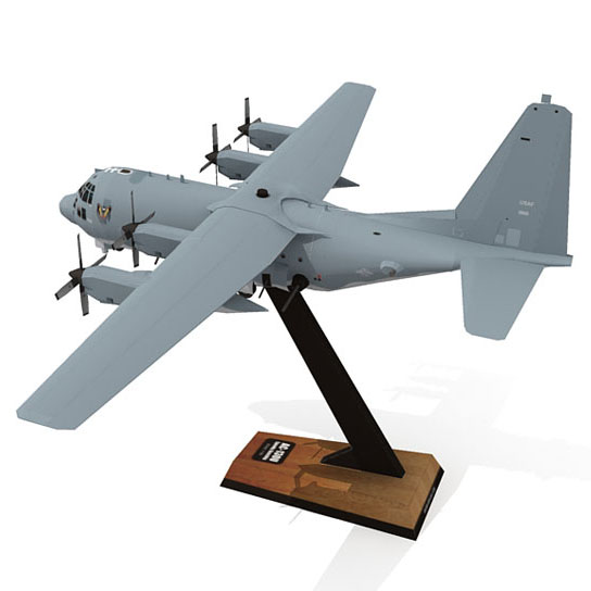 DIY 1:100 AC-130U Spooky Gunship Attack Fighter Plane Aircraft Paper Model Assemble Hand Work 3D Puzzle Game DIY Kids Toy