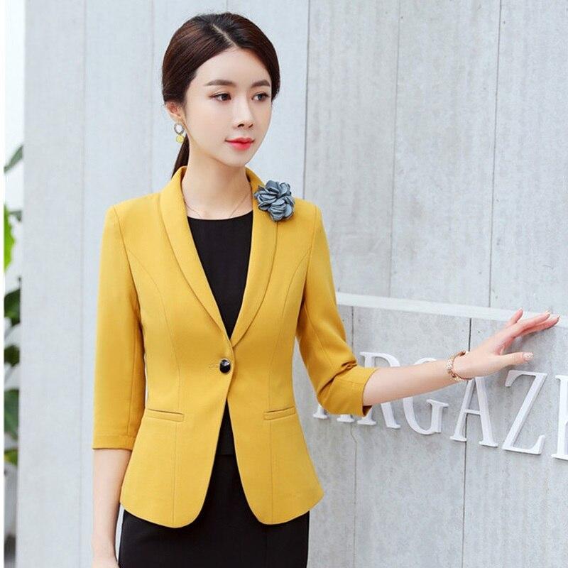 2019 Spring Summer Blazers And Jackets Coat Half Sleeve Uniform Styles Blazer Coat  Ladies Work Wear Tops Outwear Clothes