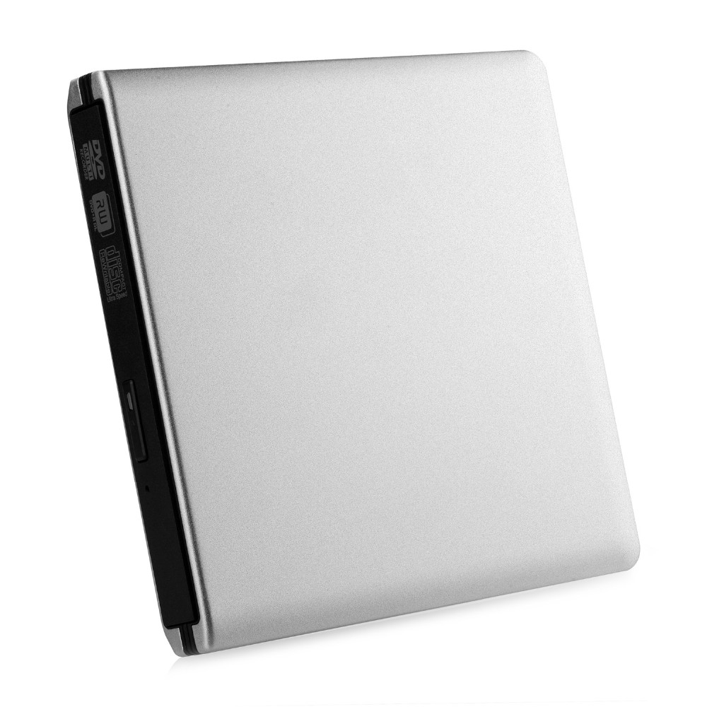 Ultra Slim External USB 3.0 High Speed CD-RW DVD-RW Super Drive Player Writer Burner for Apple MacBook Air, PC Laptop