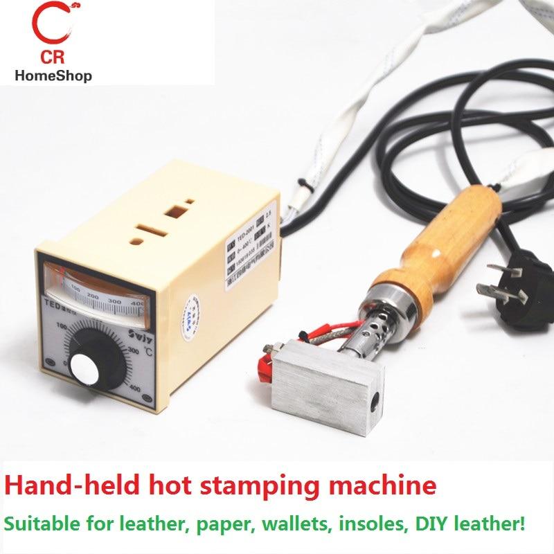 120 Watt Temperatur 0-250 Heißprägen Bereich 3 cm * 5 cm hand Heißprägemaschine, Hot Stamping Kleber, Heißprägen Papier, Benutzerdefinierte Logo