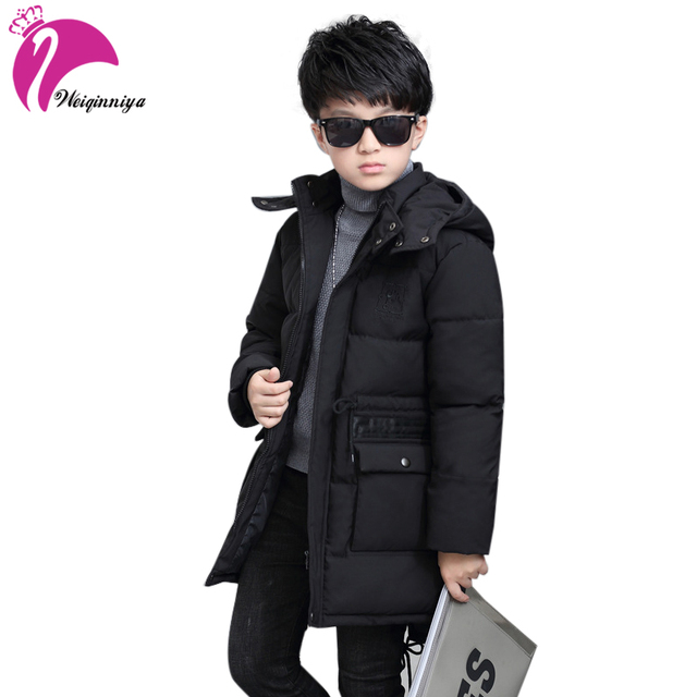 e4d271481 US $30.62 |weiqinniya Boys Down Parkas Jackets Winter 2018 Kid Down Pattern  Jacket For Boy Fashion Children Windbreaker Hooded Parka Jacket-in Down &  ...