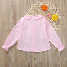 Girl Rabbit Ear Cravat Long Sleeve Top Shirt