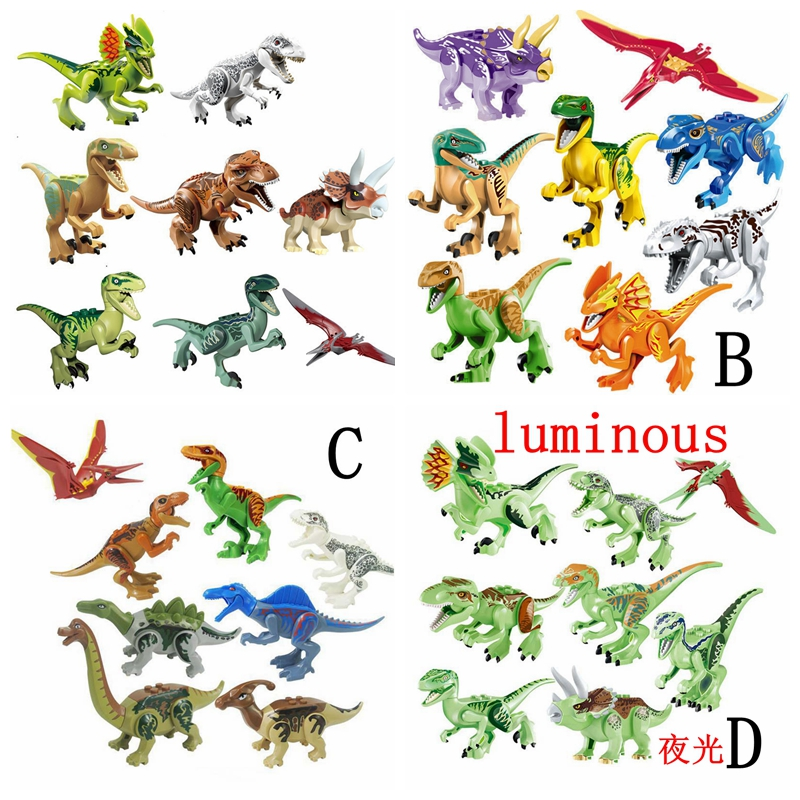 Jurassic Park Dinosaurs Building Blocks, Legoings Jurassic World Dinosaurs Tyrannosaurus Rex Indominus Figures Toy цена