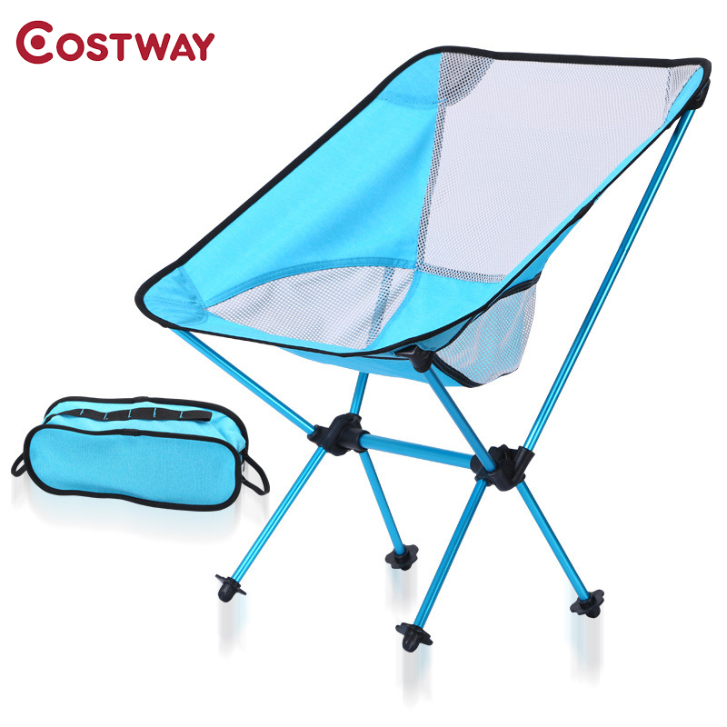 COSTWAY Outdoor Camping Folding Chair Oxford Cloth Fishing Chair Ultra Light Portable Leisure Beach Chair W0211 outlife ultra light folding fishing chair seat for outdoor camping leisure picnic beach chair other fishing tools z40