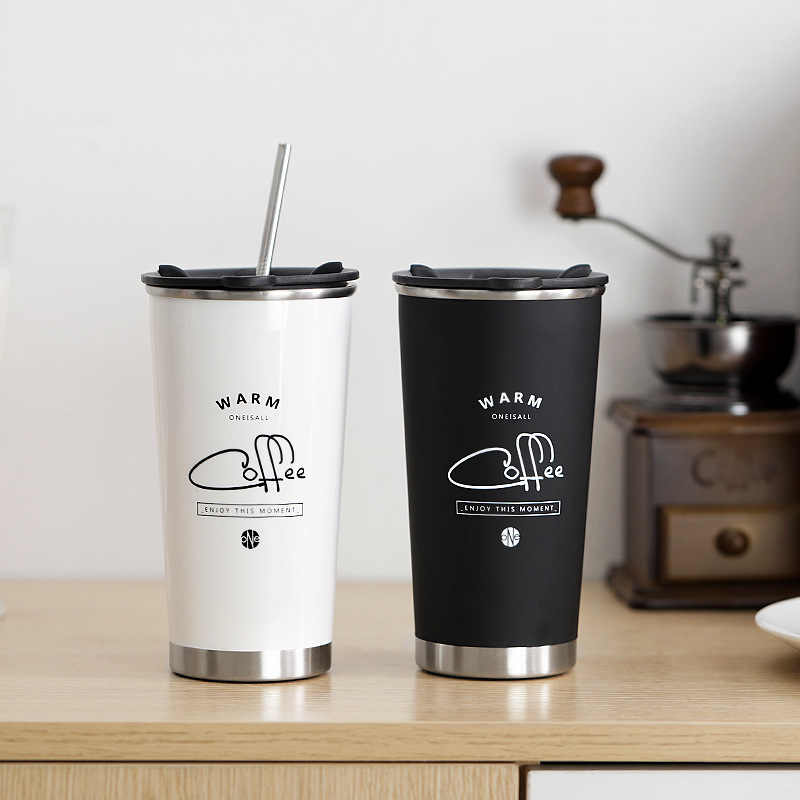 400ML New Design Double Wall Coffee Mug Stainless Steel 304 Thermal Vacuum Flasks Thermos Cup Tea Milk Travel Water Bottle