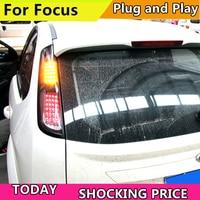 Автомобильный Стайлинг задние фонари для Ford Focus 2009 2013 задние фонари светодио дный задние фонари Задняя Крышка багажника drl + сигнал + тормоз +