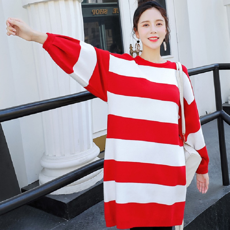 new spring/autumn maternity clothing maternity sweater knitted o-neck stripe sweater pregnacy womens sweaters one sizenew spring/autumn maternity clothing maternity sweater knitted o-neck stripe sweater pregnacy womens sweaters one size