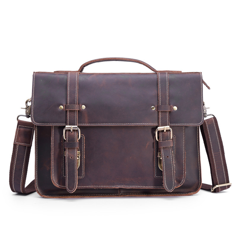 Genuine Leather Briefcase for Men 13 Inch Laptop Bag Real Leather Male Shoulder Handbag Business Mens Messenger Cross Body ToteGenuine Leather Briefcase for Men 13 Inch Laptop Bag Real Leather Male Shoulder Handbag Business Mens Messenger Cross Body Tote