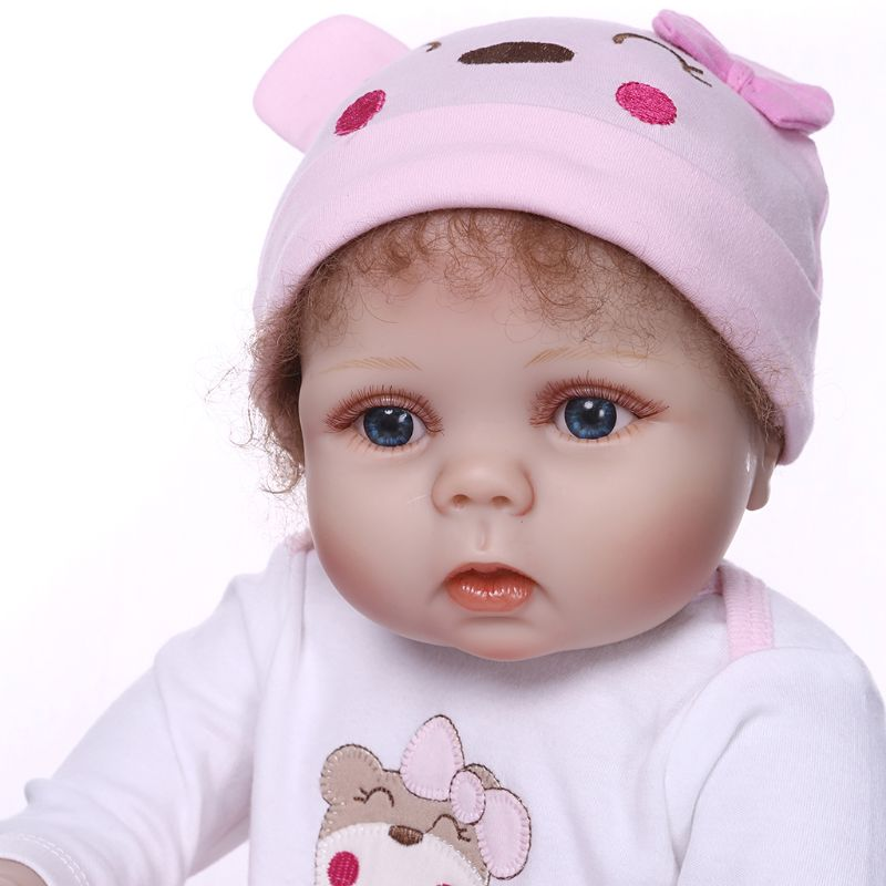 56cm Reborn Doll Realistic Full Silicone Vinyl Newborn Baby Toy Girl Princess Clothes Pacifier Lifelike Handmade Birthday Gift-in Dolls from Toys & Hobbies    3
