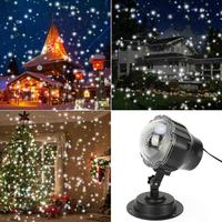 Hot Sale Lamp Projector Light Mini Party Outdoor Christmas LED White Light Snow Light House Mini Snow Light