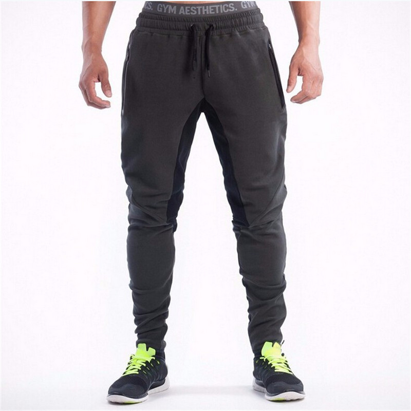 New 2019 Bodyboulding Mens Pants Brand Clothing Splice Cotton Trousers Professional Fitness Jogger Sweatpants Men High Quality