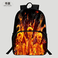 HENGFEI Brand Popular Polyester 100% 16-Inch Printing Black Monster Teenagers Backpacks Kids Baby School Bags For Teenager Boys