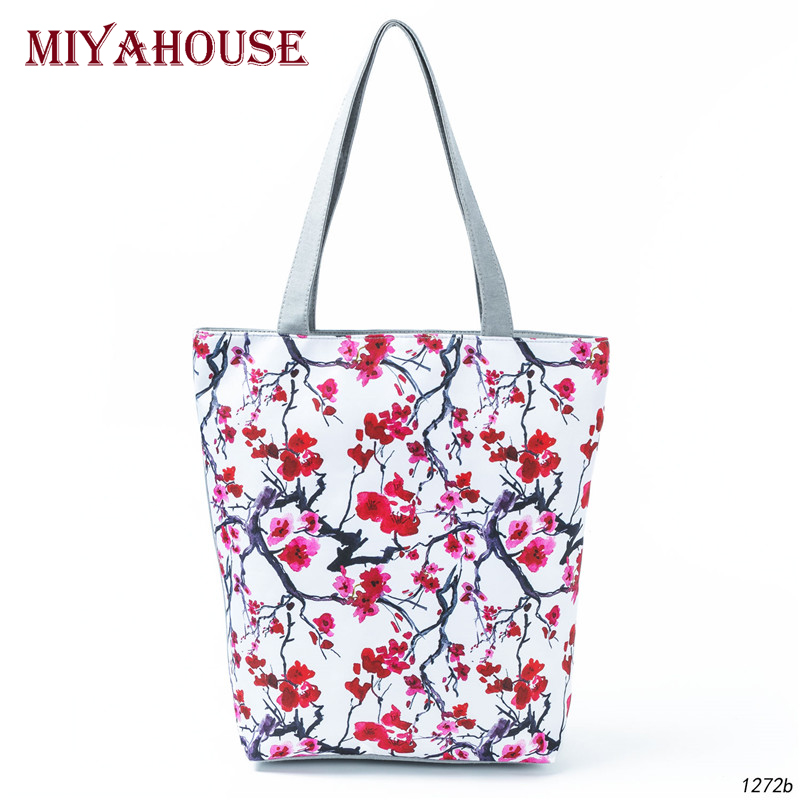 Chinese Style Print Women Shoulder Bag Summer Beach Bag Female Canvas Tote Handbag Lady New Design Casual Shopping Bag
