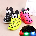 cotton light up shoes kids toddler led schoenen kids Girl Sneakers boy Sport Shoes chaussure basket enfant schoenen met wieltjes