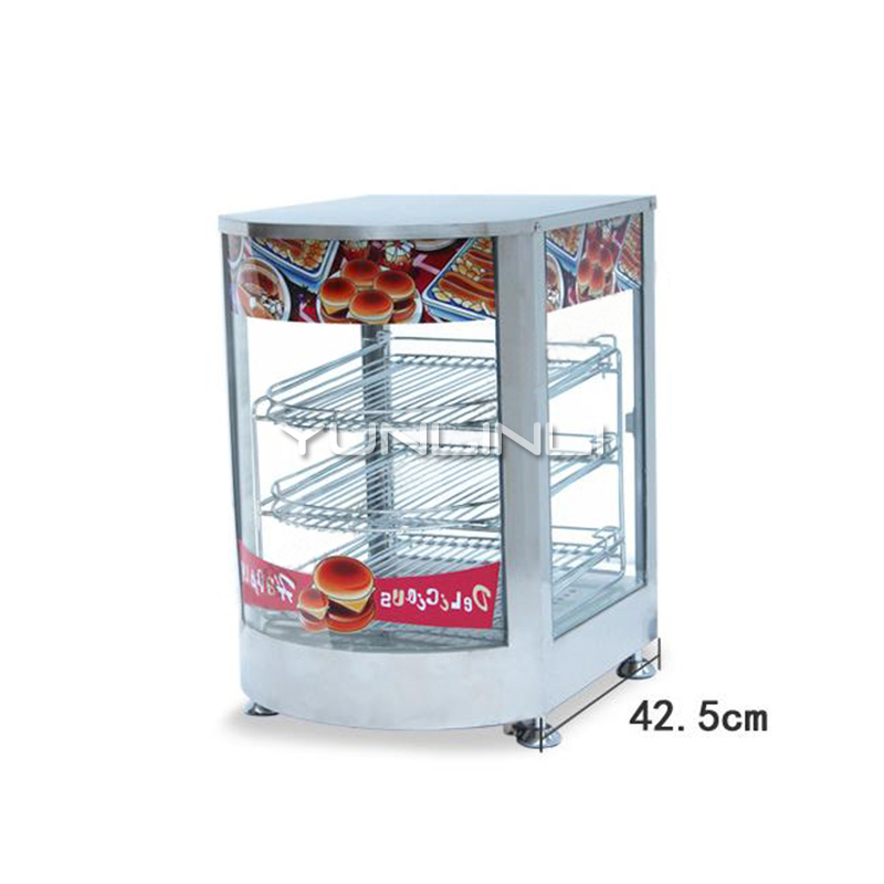 все цены на Commercial Food Warming Showcase Electric Cooked-food Heat Preservation Case Electric Food Display Cabinet NP-641 онлайн