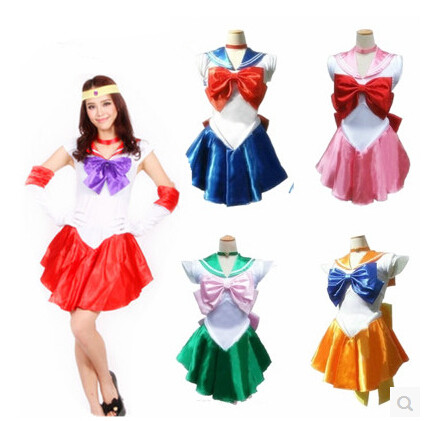 Women's <font><b>Sexy</b></font> Sailor Moon <font><b>Costume</b></font> Cosplay For Girl <font><b>Halloween</b></font> Game Stage Bar <font><b>Costume</b></font> Cosplay image