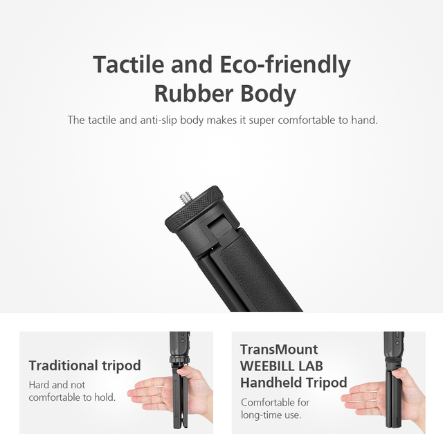 ZHIYUN Stabilizer Handheld Tripod Transmount with Anti-slip Rubber for Weebill Lab/ Crane 2/ Smooth Q/ Smooth 4 Gimbal