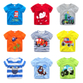 Children's cartoon short sleeved T-shirt printing 2017 new summer dress jacket half sleeve T-shirt boy baby.