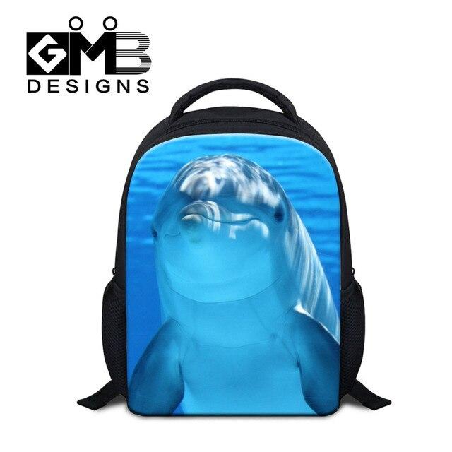 7877322b7d18 Dispalang Mini School Bags For Girls Boys Animal Dolphin Printing Baby Backpacks  Kindergarten Shoulder Bag Kids Child Book Bag