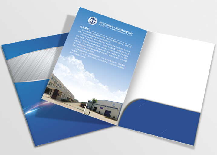 Customed A4 Paper Presentation File Folder(free Design ,need  Your Logo And Details)
