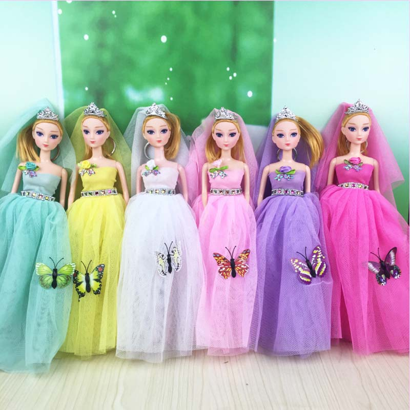 HziriP 1PCS Rubber Dolls Toys Lovely Princess Pendant Colorful Doll Pretend Play Model Kids Children Toys For Girls Gifts