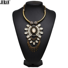 4 colors new style Fashion Vintage Unique collar pendant Chunky Necklace Statement Jewelry for Women necklace