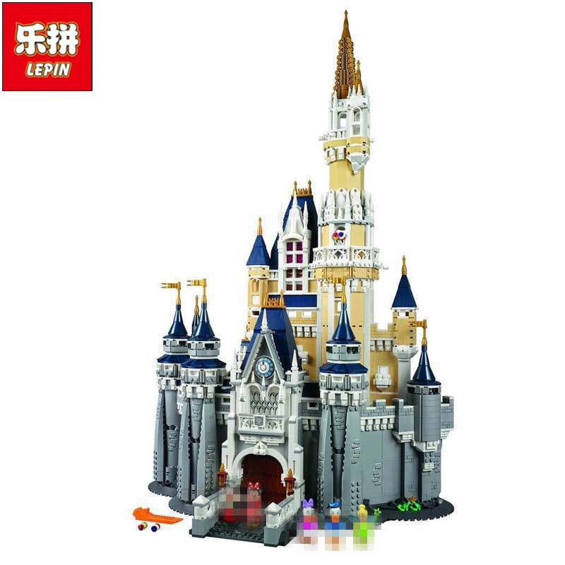 LEPIN 16008 4080Pcs Movie Series Creator Cinderella Princess City Building Blocks Bricks Kits Toys for Children Compatible 71040 lepin 16030 1340pcs movie series hogwarts city model building blocks bricks toys for children pirate caribbean gift