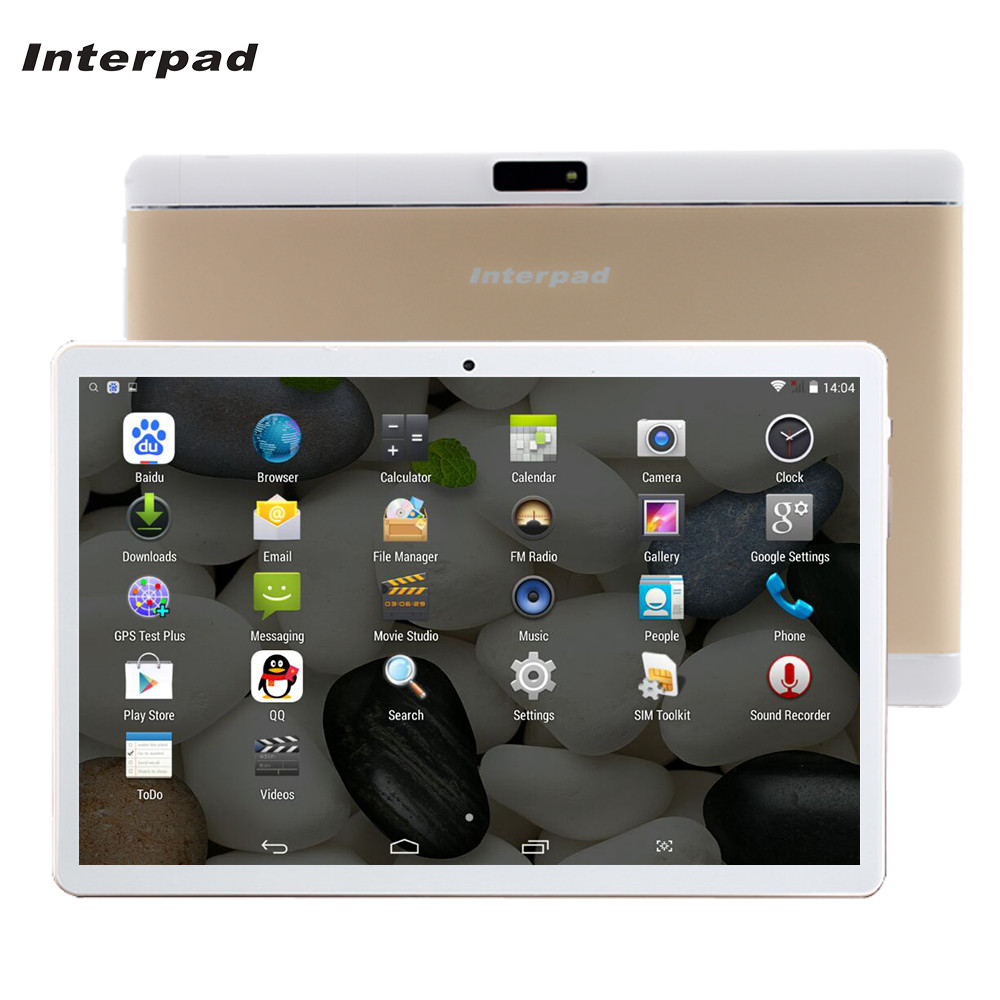 Interpad 10 inch Quad Core 3G tablet MTK6582 IPS Screen 2G RAM 16GB ROM GPS WIFI Android Phone Tablet pc brand tanlets 10 bs1078 10 0 quad core android 4 4 tablet pc w 1gb ram 16gb rom bluetooth wi fi white black