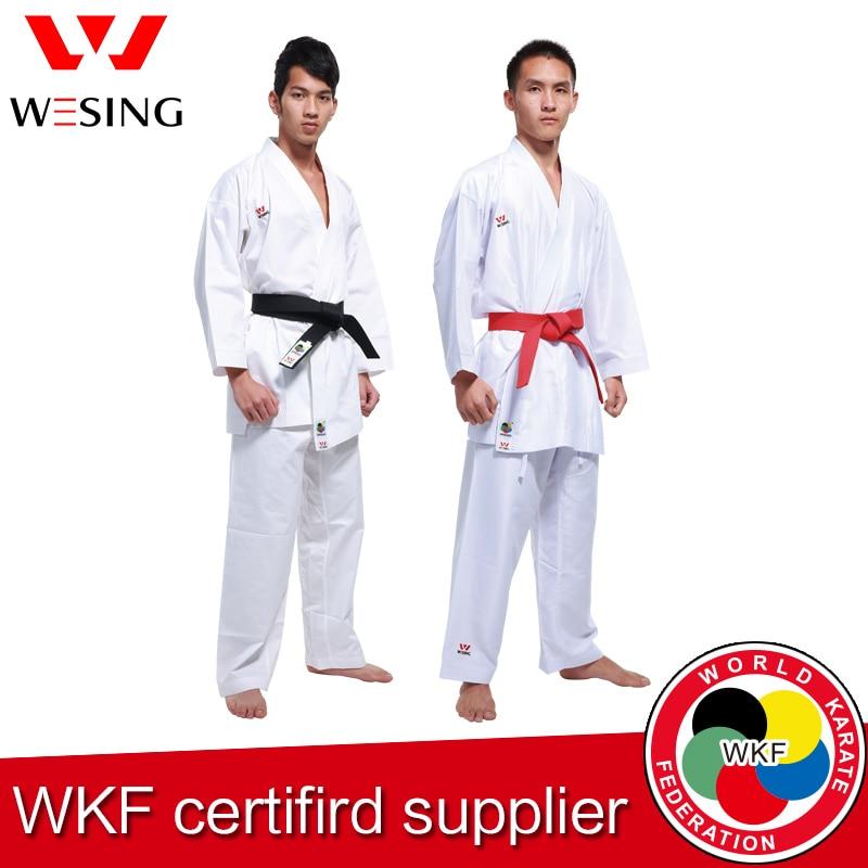 Wesing Karate gi Kumite felnőtt gyerekek Karate Unifomr Kata gi a WKF által jóváhagyott képzési versenyre