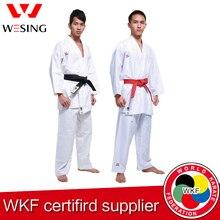 Wesing Karate gi Kumite Người Con Trưởng Thành Unifomr Kata Đào Tạo Cạnh Tranh Chấp Thuận WKF