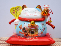 Decoration Arts Crafts Girl Gifts Get Married Lucky Cat Ornaments Medium Large Coloured Ceramic Japanese Piggy