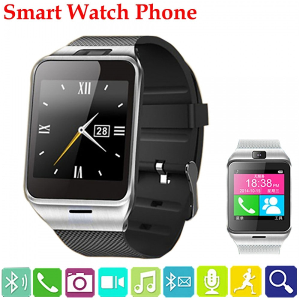 Smart Watch GT08 Clock With Sim Card Slot Push Message Bluetooth Connectivity for apple Android Phone PK gv18 DZ09 u8 Smartwatch