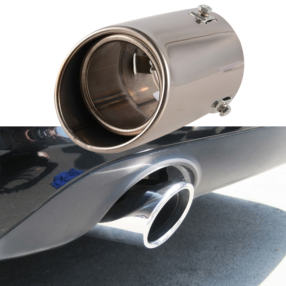Car Exhaust Pipe Straight Car Stainless Steel Chrome Square Tail Muffler Tip Pipe Automobile Exhaust Pipes