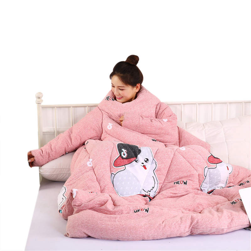 150 x 200c Acrylic Winter Lazy Quilt With Sleeves Quilt Winter Warm Thickened Washed Blanket  Lazy With Sleeves Winter 19MAR21150 x 200c Acrylic Winter Lazy Quilt With Sleeves Quilt Winter Warm Thickened Washed Blanket  Lazy With Sleeves Winter 19MAR21