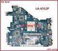 Laptop Motherboard FOR ACER Aspire 5552G  NV50A MBR4602001 PEW96 L01 LA-6552P 100% TSTED GOOD