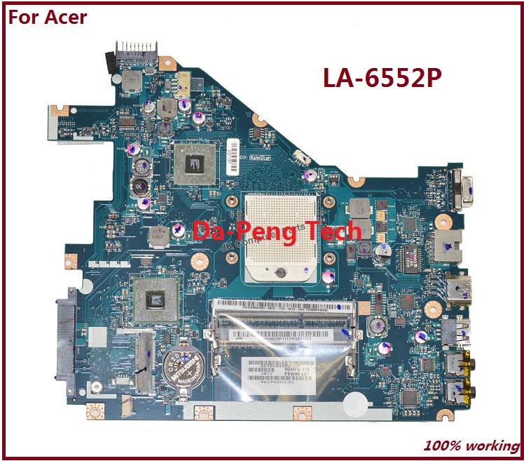 Prix pour Ordinateur portable Carte Mère POUR ACER ASPIRE 5552G NV50A MBR4602001 PEW96 LA-6552P L01 100% TSTED BON